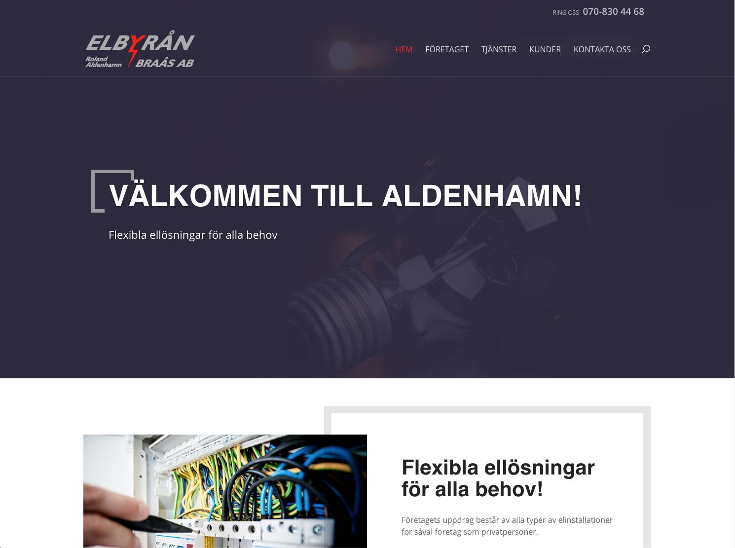 Elbyrån i Braås har fått en ny hemsida