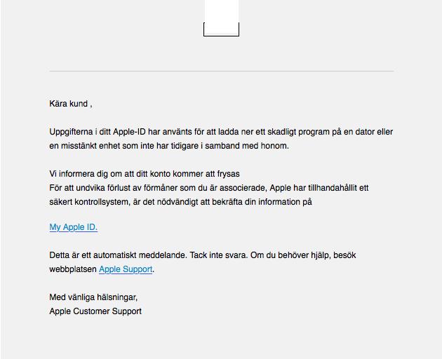 Ny varning, denna gången Apple-bluffarna