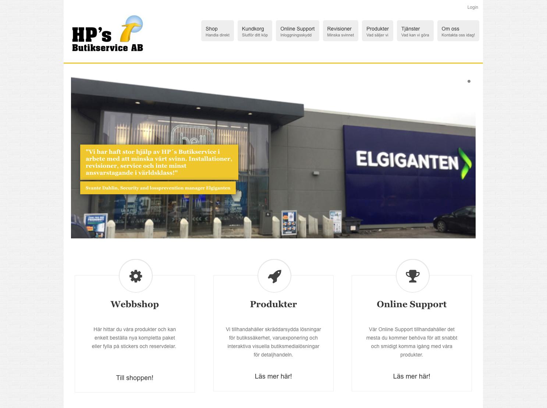 Ny hemsida med webbshop