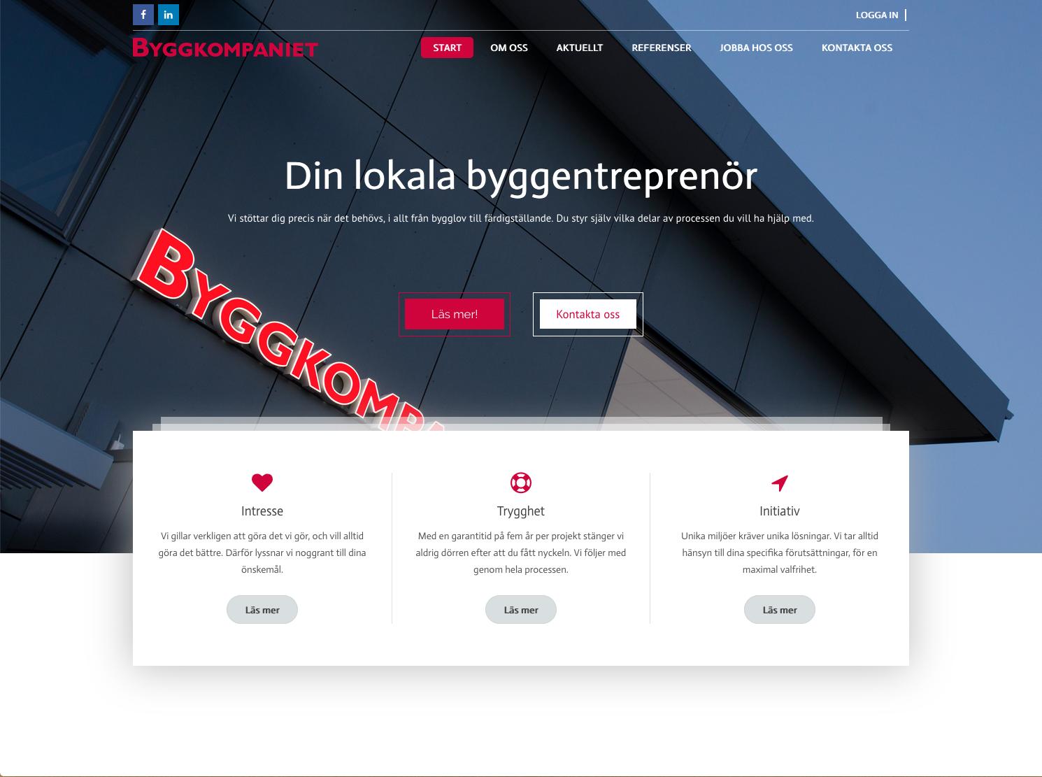 Ny sajt till Byggkompaniet