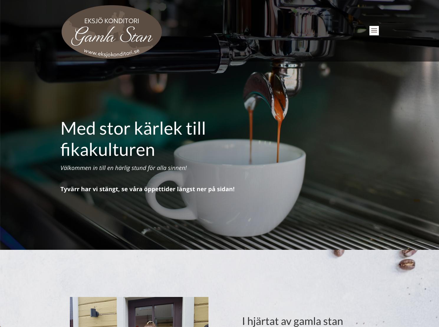 Ny hemsida till Eksjö Konditori Gamla Stan