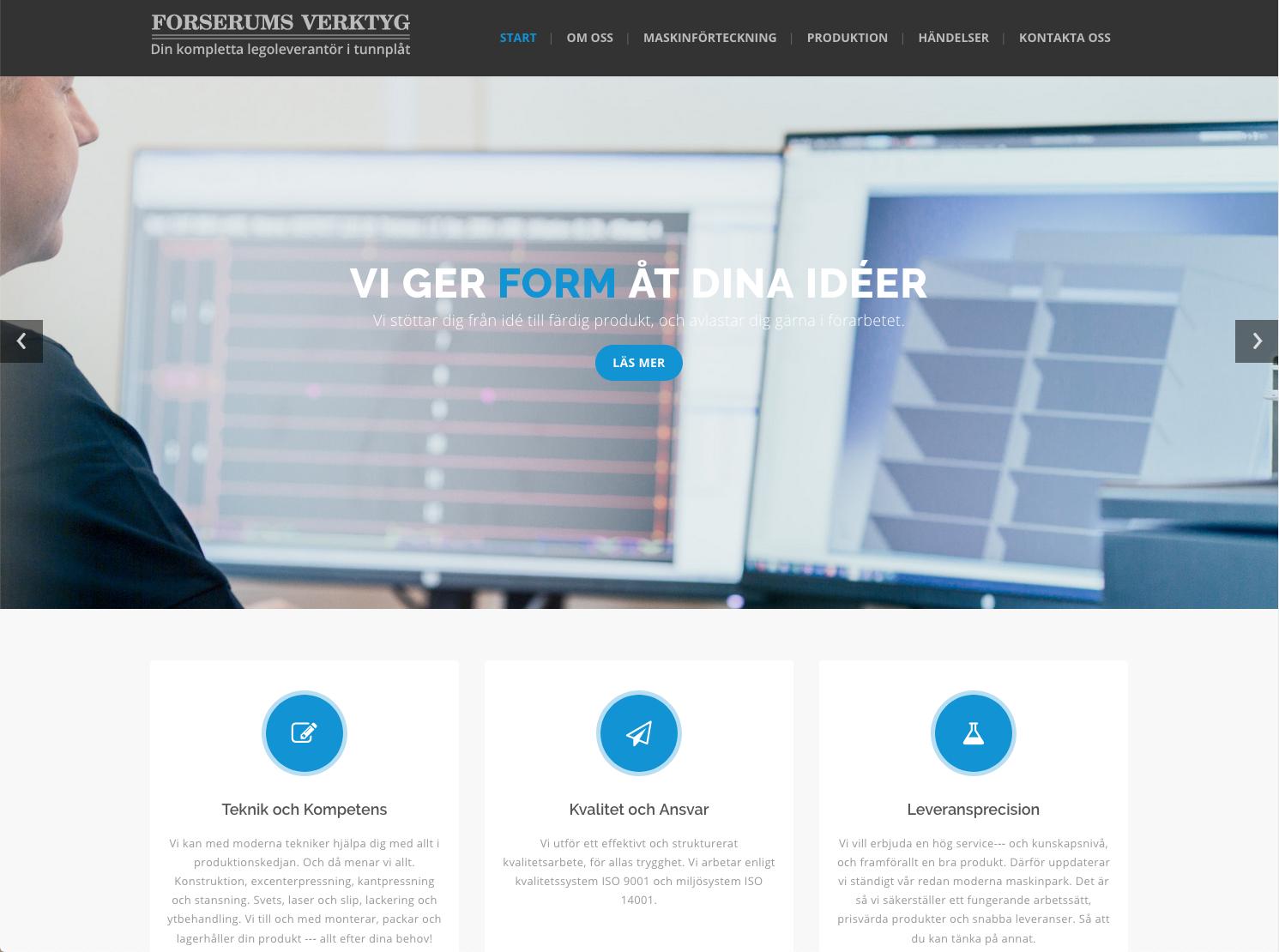 Ny hemsida till Forserums verktyg