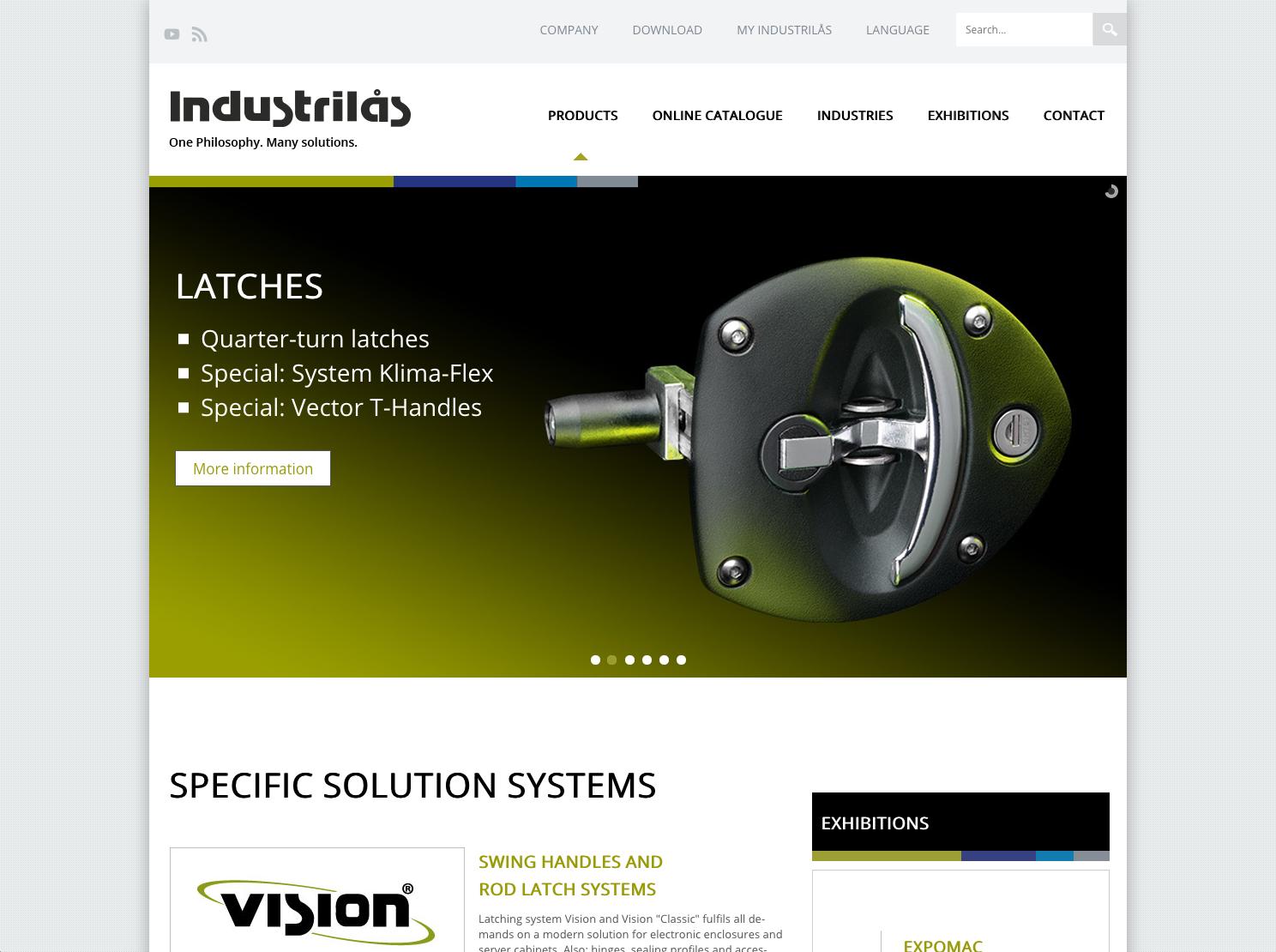Ny hemsida till Industrilås på flera språk