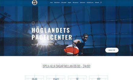 Höglandets Padelcenter har publicerat sin nya hemsida