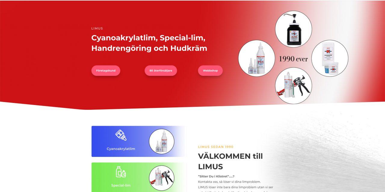 Ny hemsida och webbutik till limus.se