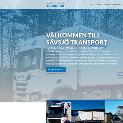 Ny hemsida till Sävsjö Transport