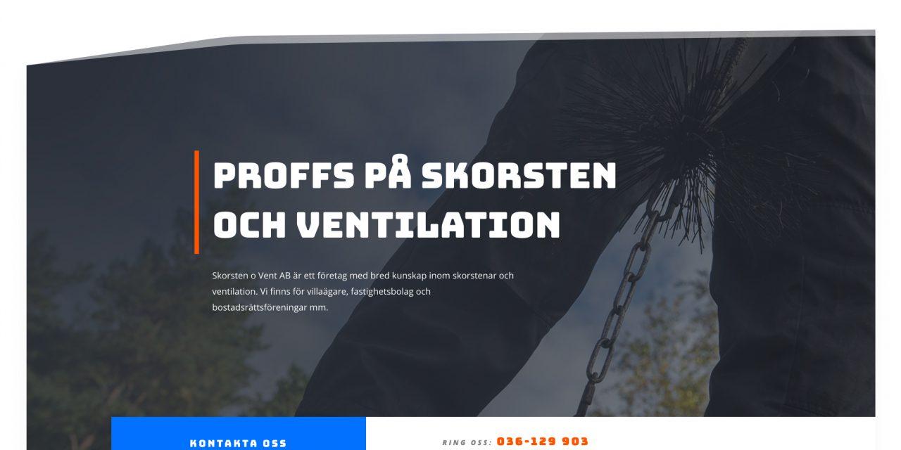 Ny hemsida till Skorsten & Vent