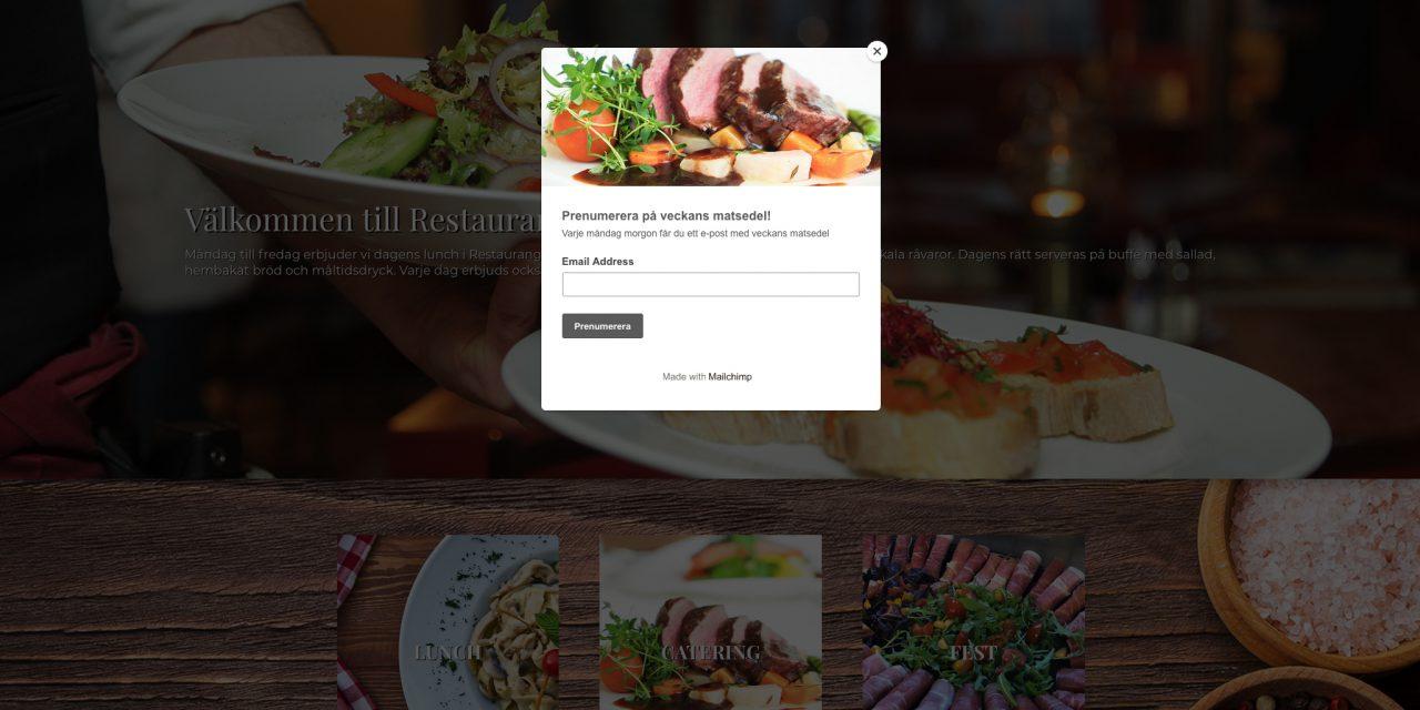Hemsidesproduktion till Restaurang Högdalstoppen