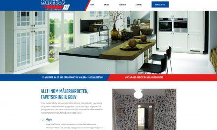 En hemsida till Höglandets Måleri och Golv