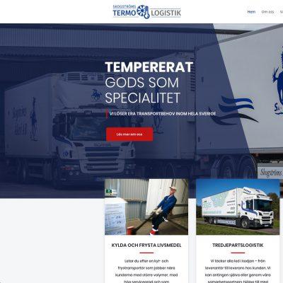 Produktion av webbsida till Skogströms Termo & Logistik