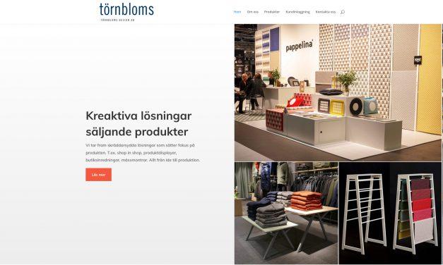 Törnbloms Design har gjort en ny hemsida